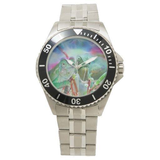 Beautiful chameleons wrist watch
