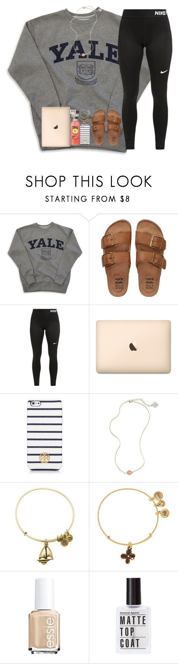 """""""What was the last song u listened to"""" by abigailcdunn ❤ liked on Polyvore featuring Billabong, NIKE, Tory Burch, Kendra Scott, Alex and Ani and Essie"""