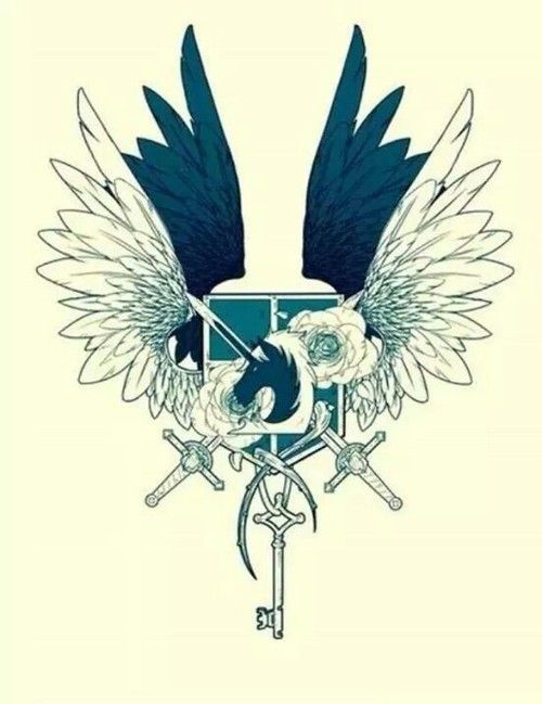 Escudo combinado de la Policía Militar, la Legión de Reconocimiento, las Tropas Estacionarias y el de los Cadetes.