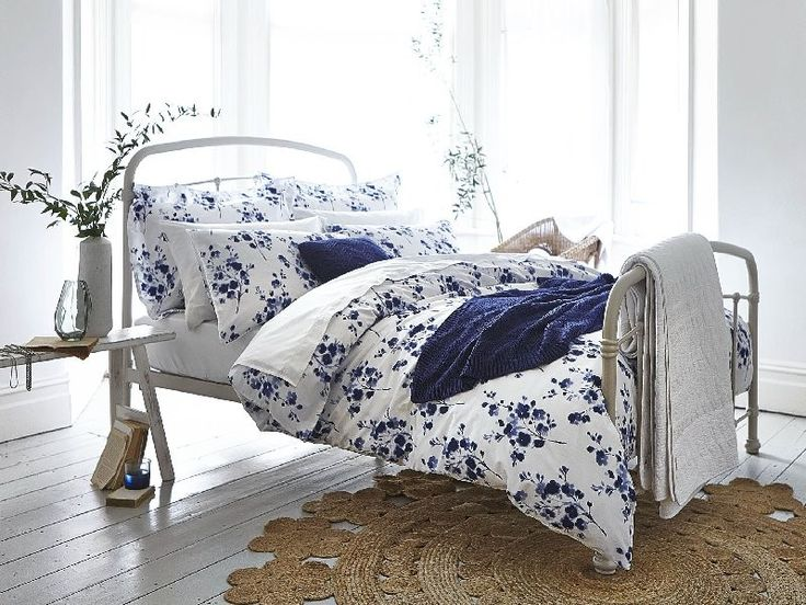 Bianca Cotton Soft, Sprig Cotton Print Grey, Duvet Cover Set : King Size