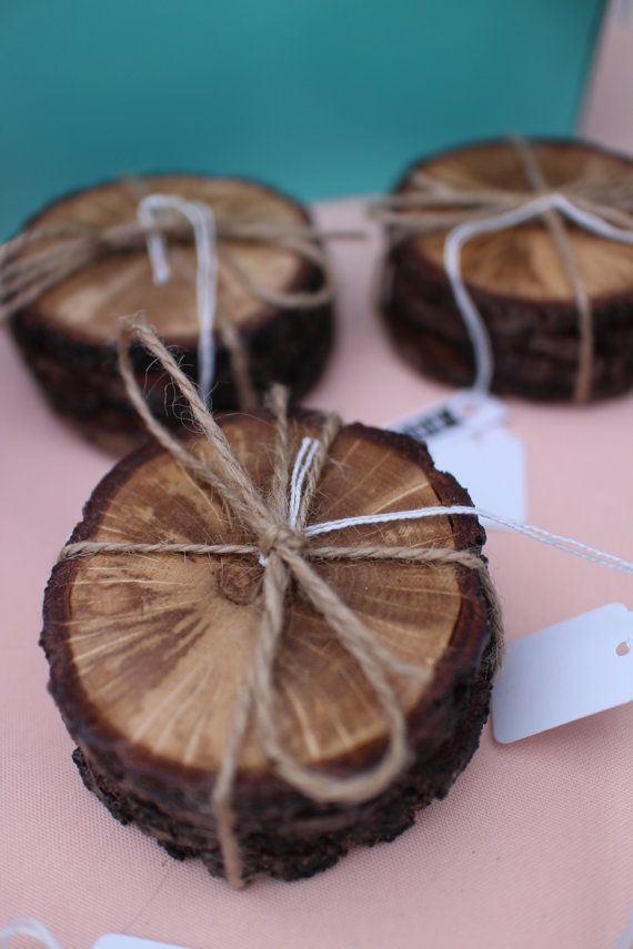 Wooden Branch Coaster | Set of Four