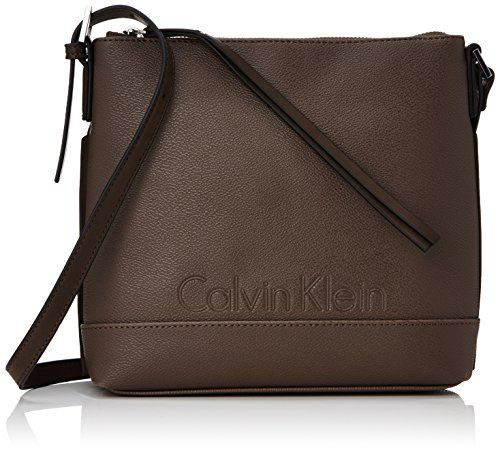 Calvin Klein Jeans MELISSA FLAT CROSSOVER K60K600589 Damen Umhängetaschen 14x7x23 cm (B x H x T), Grau (Taupe 072) - http://on-line-kaufen.de/calvin-klein-jeans/grau-taupe-072-calvin-klein-jeans-melissa-damen-cm