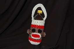 sock monkey water bottle carrier, free pattern: Pooch Design, Water Bottle, Sock Monkeys, Monkey Water, Free Crochet, Crochet Patterns, Bottle Cozy, Cozy Patterns, Crochet Socks Monkey