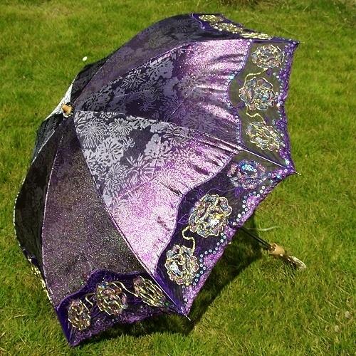 Pretty satin parasol!