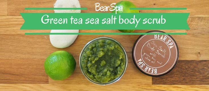 The green tea when has awesome beauty benefits on skin. Check out how to make an energizing green tea sea salt body scrub recipe just in few steps.