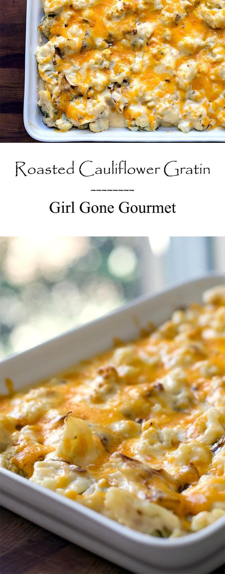 This creamy, cheesy gratin starts with a simple bechamel sauce - it's comfort food heaven!   girlgonegourmet.com
