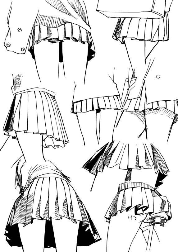 dokuroou: プリーツスカートの描き方 [1] - 資料置き場                                                                                                                                                                                 もっと見る