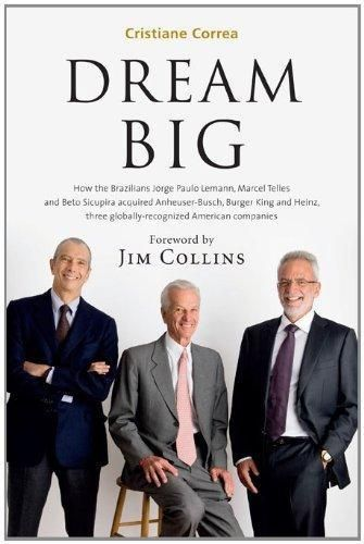 Dream Big (Sonho Grande): How the Brazilian Trio behind 3G Capital - Jorge Paulo Lemann, Marcel Telles and Beto Sicupira Acquired Anheuser-Busch, Burger King and Heinz by Cristiane Correa.  Here Correa tells the story of the three Brazilians who founded 3G Capital, an investment firm that joined Buffett in purchasing HJ Heinz in 2013.