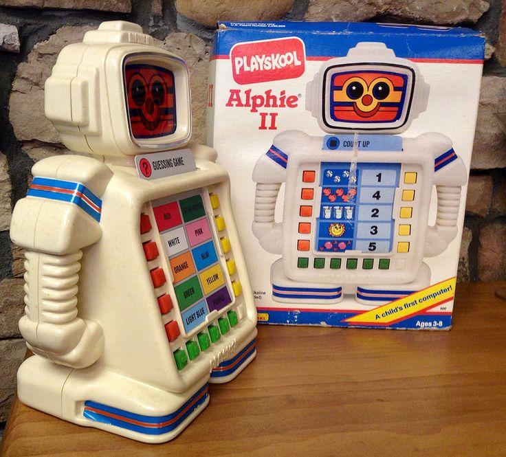 1990 S Toys : Alphie ll learning computer robot playskool hasbro