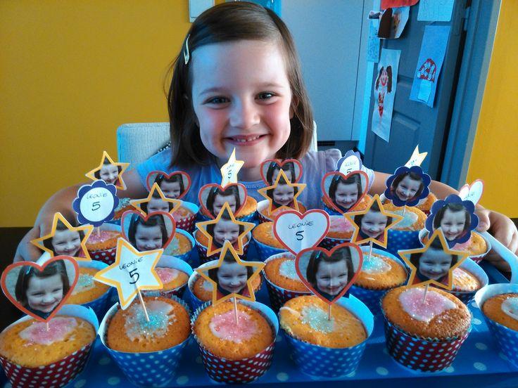 cakejes voor de klasgenootjes van Leonie