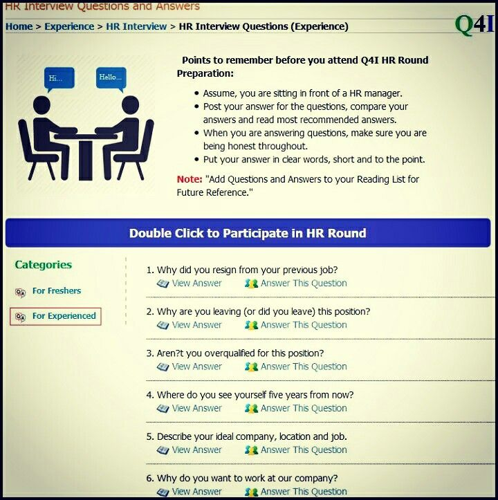 68 best Experience Interview Questions Archives images on - interview questions and answers