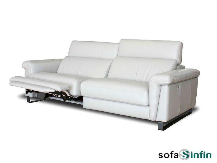 Sofá relax de 3 y 2 plazas modelo Truman fabricado por Losbu en Sofassinfin.es