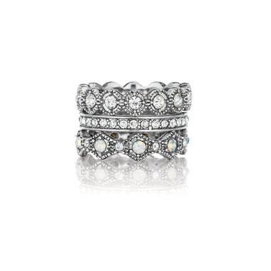 Heirloom Crystal Stackable Rings