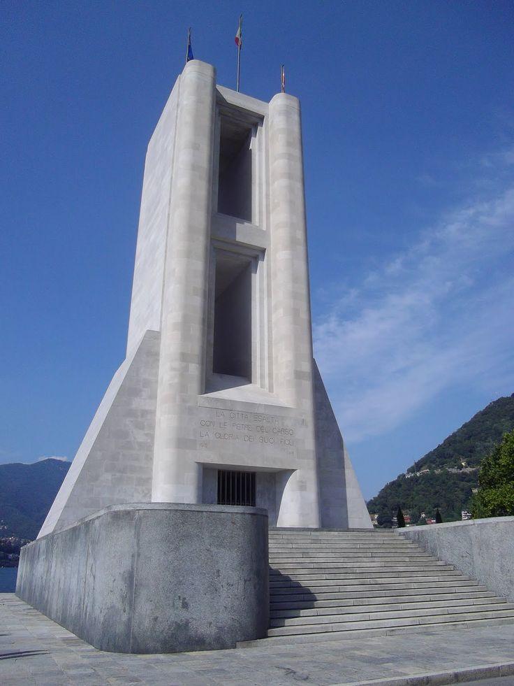 Monumento ai Caduti (First World War memorial), Como, by Giuseppe Terragni, Italian architect.