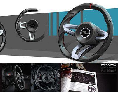 "Seterring Wheel - by Cesar Zanardo Check out new work on my @Behance portfolio: ""Shutt Automotive Steering Wheel"" http://be.net/gallery/51414935/Shutt-Automotive-Steering-Wheel"