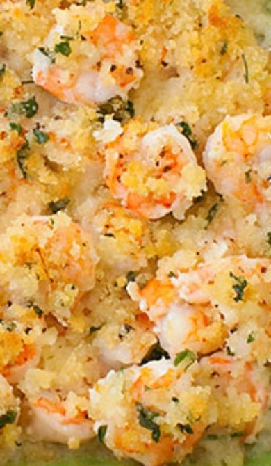 Garlicky baked shrimp, Baked shrimp and Shrimp on Pinterest