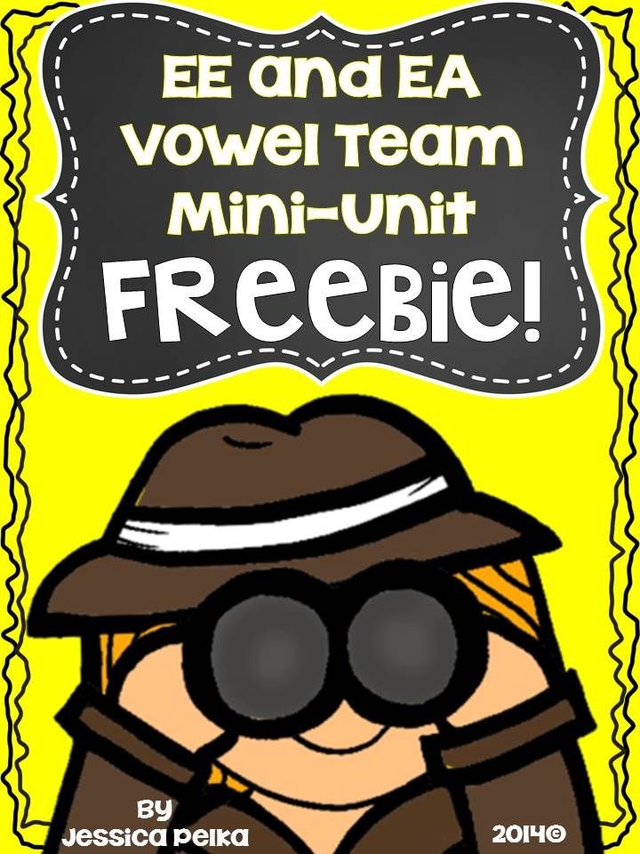 Try this hands-on approach to teaching the vowel team EE and EA.  Make phonics fun again!  Free download! #phonics #wordwork #vowelpairs