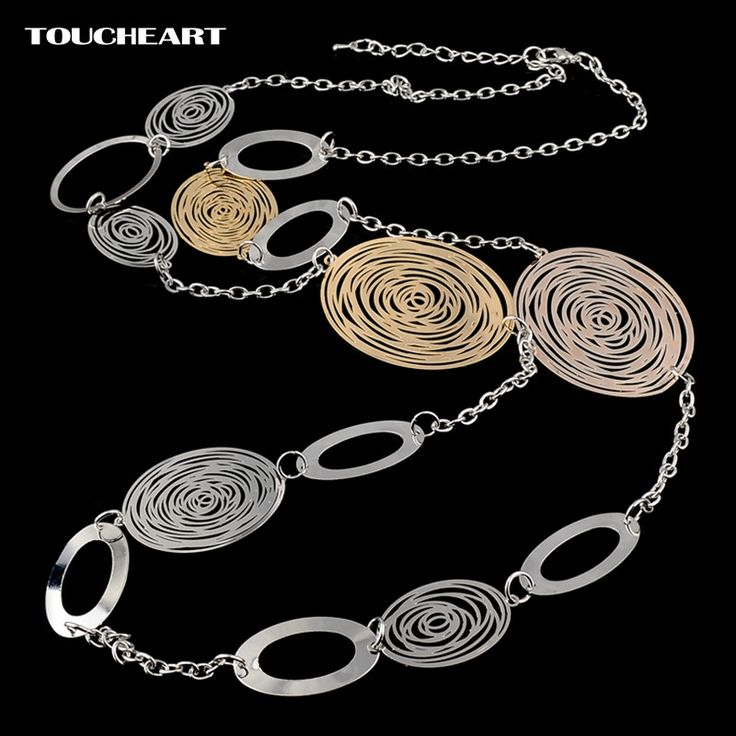 Free Shipping - Vintage Hollow Long Gold / Silver color Statement Necklaces For Women