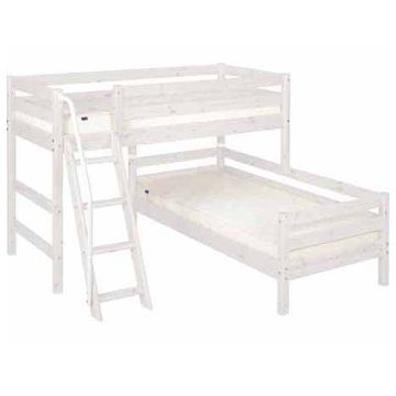 Flexa Classic Bunk Bed Semi High With Single Slanting Ladder