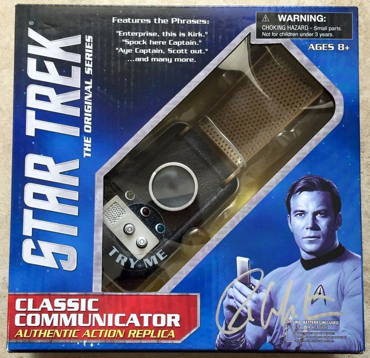 William Shatner Signed Star Trek Captain Kirk Classic Communicator PSA/DNA COA | Entertainment Memorabilia, Autographs-Original, Movies | eBay!