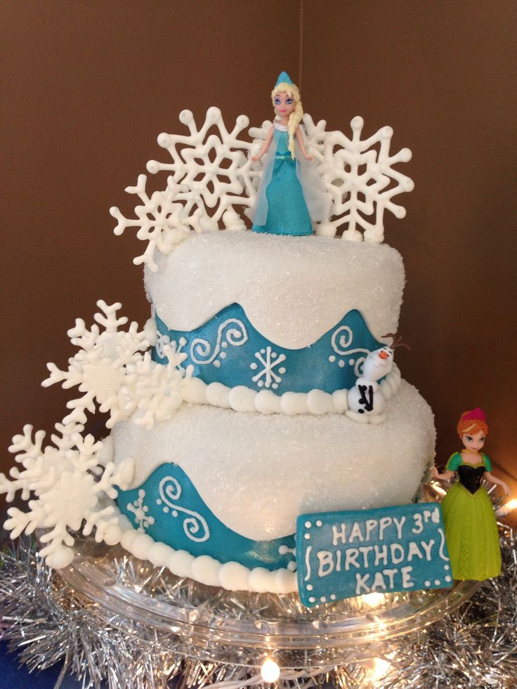 Birthday Cake Designs On Pinterest : FROZEN birthday cake