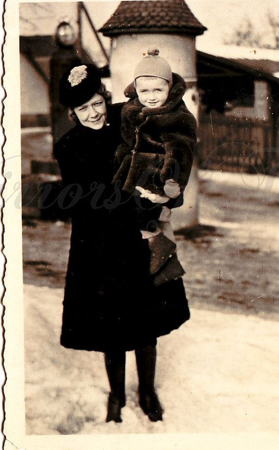 Vintage Photo  Family Portrait  Mother and son by MirrorsOfTime