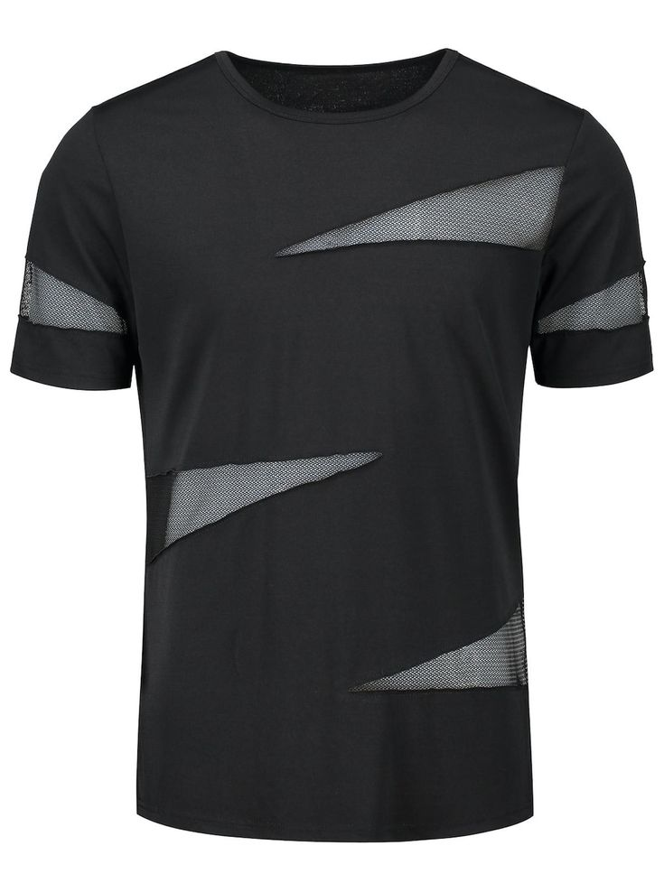 Shredding Sheer Crew Neck T-shirt
