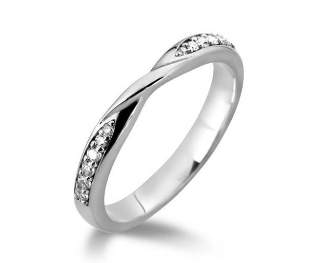 Diamond twist wedding ring - Platinum Wedding Rings - Gold Wedding Rings