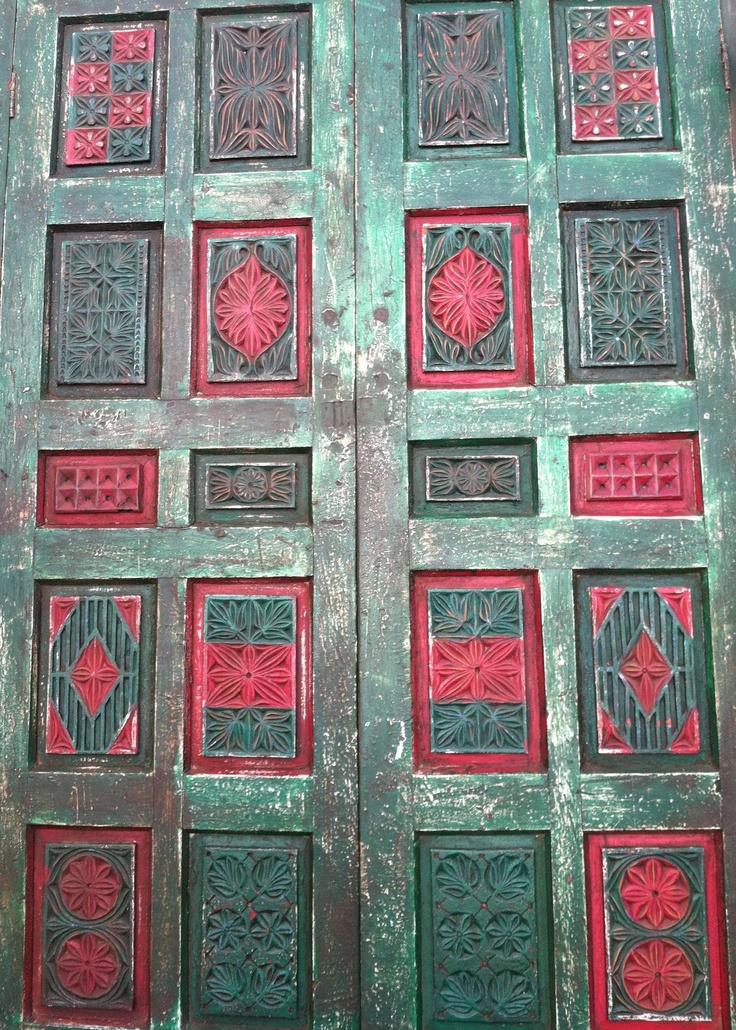 Old door for sale at Brimfield.