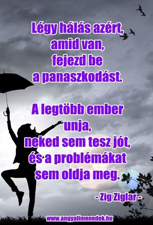 Zig Ziglar gondolata a panaszkodásról. A kép forrása: Angyali Menedék # Facebook