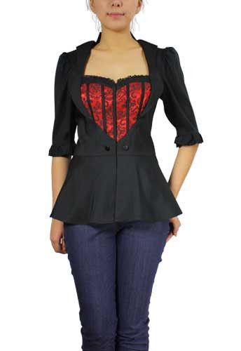Faux Layered Blouse by Chic Star