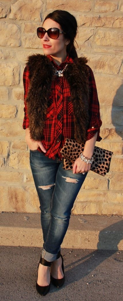 Plaid and leopard - My Fash Avenue