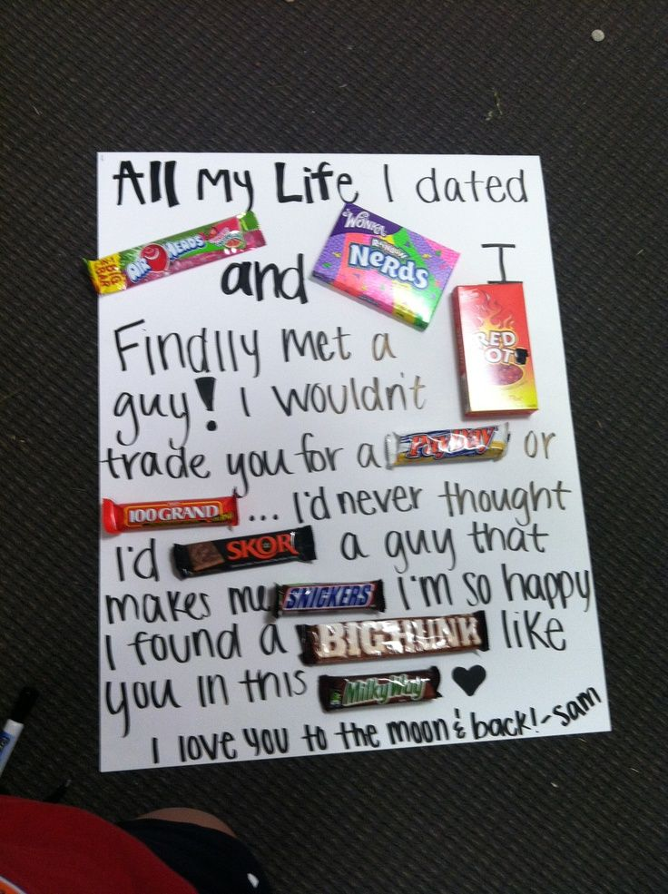 Gift Ideas For Boyfriends Except I Dont Have A Boyfriend So Would Probably Make This And Then Devour All The Chocolate