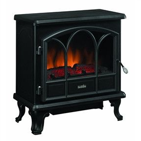 This 1500-Watts Large Stove Style Electric Fireplace Space Heater has a metal construction. Also, it has electronic controls with a remote.1500-Watts Large Stove Style Electric Fireplace Space HeaterM