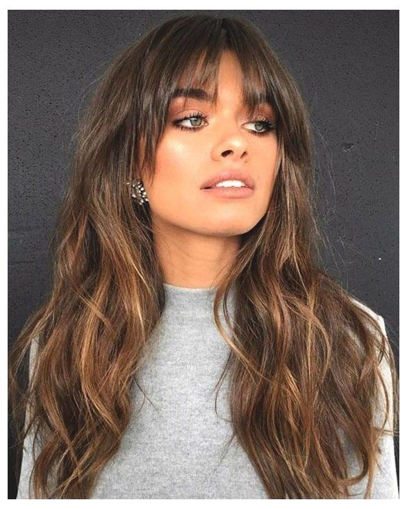50+ Long hair with bangs 2020 trends