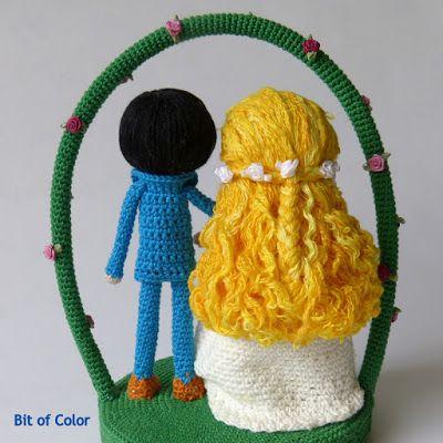 Bit of Color: Hoe maak je krullend haar voor de amigurumi pop?