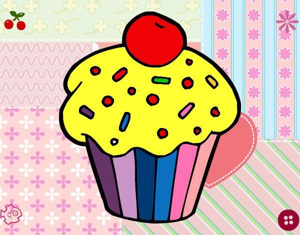 Dibujos de cupcakes para imprimir - Imagui