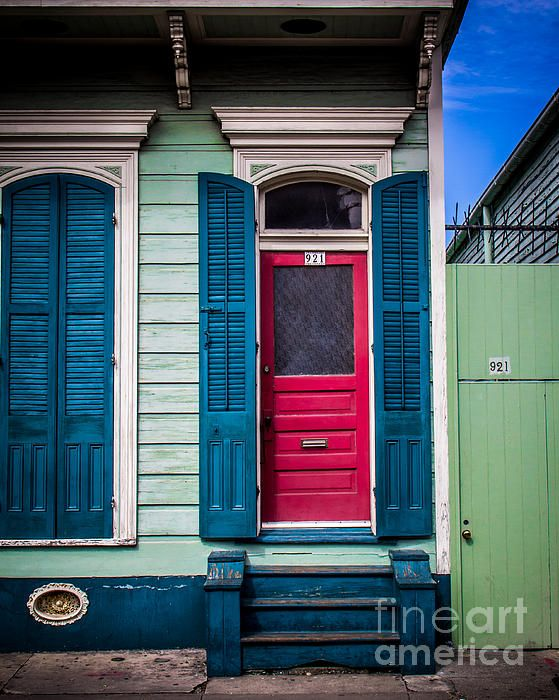 Red Doored House - Photography by Perry Webster