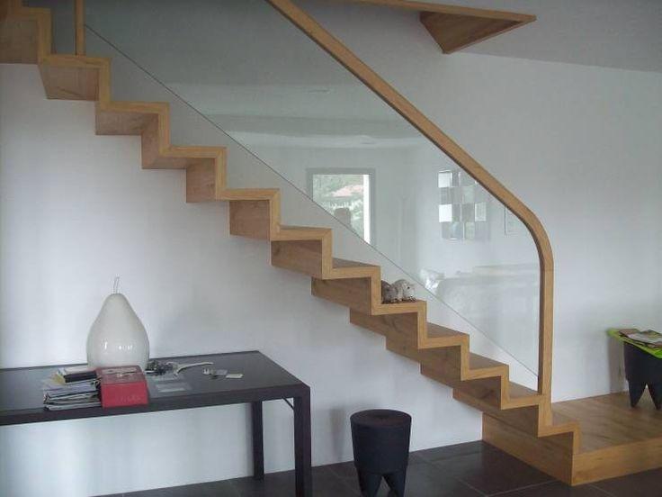 bois verre: Couloir, Entrée & Escaliers de style  par ADIBOIS