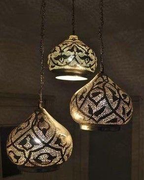 Moroccan Pendant Chandelier Lamp Ceiling Light Fixture (Set of 3) $245.00