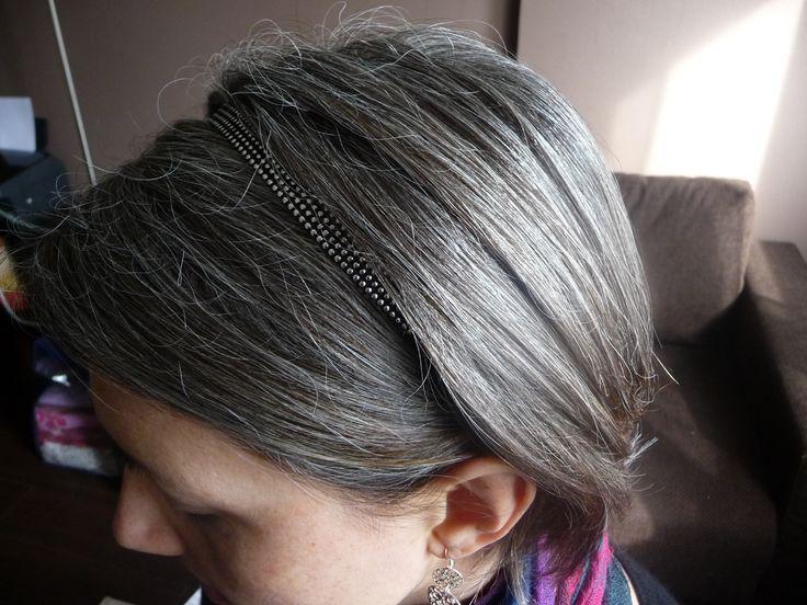cheveux et headband argent