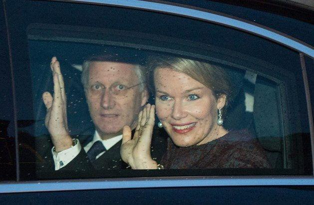 Philippe e Mathilde na cerimónia de nomeação oficial do arcebispo Jozef De Kesel em Mechelen