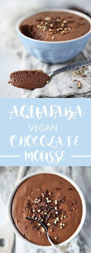 Aquafaba Chocolate mousse - 3 ingredients, vegan and glutenfree