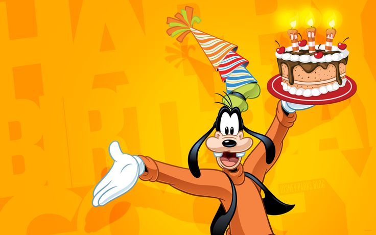 Celebrate Goofy Happy Birthday Disney download perfect for scrapbooking, Project Life, or a photo book of your Disney vacation