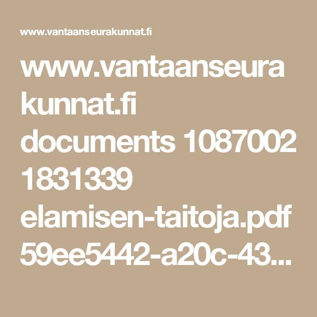www.vantaanseurakunnat.fi documents 1087002 1831339 elamisen-taitoja.pdf 59ee5442-a20c-4353-ac84-2ad11515ac17