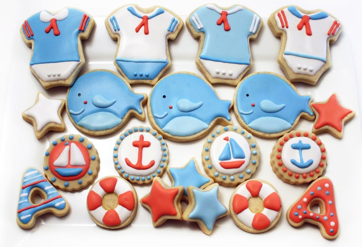 ahoy it 39 s a boy baby shower cookies my cookies pinterest boys