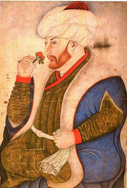 Mehmed II Fatih, le Conquérant (Miniature du xve siècle Sarayi_Album_10a