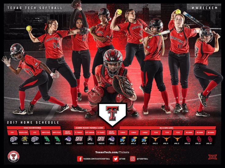 2017 Texas Tech Softball Poster