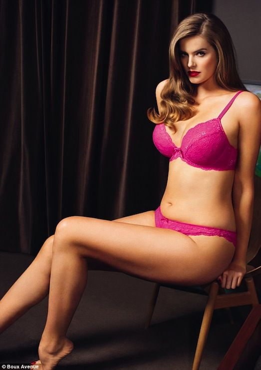 Robyn Lawley- she's a size 12 ladies!  Be happy with your body and strive to be fit but curvy!