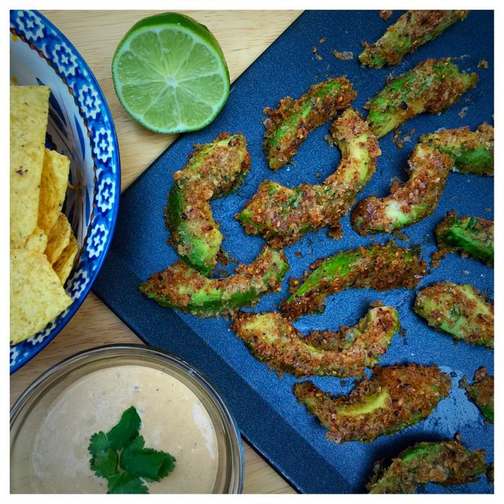 Baked Avocado Fritters - a simple, delicious #recipe